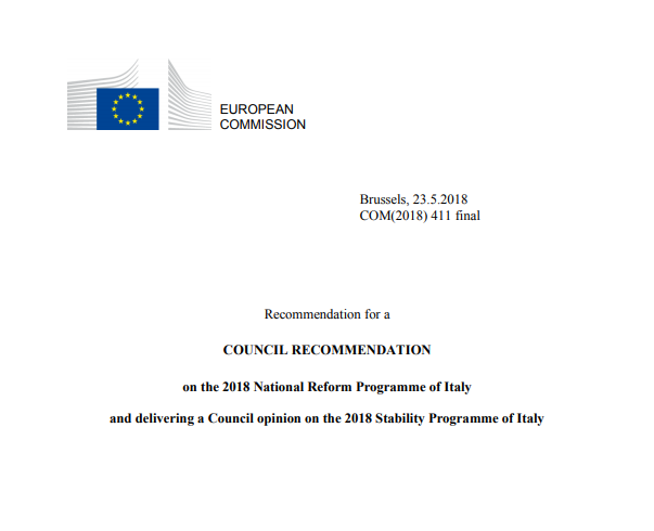 Commissione europea copertina