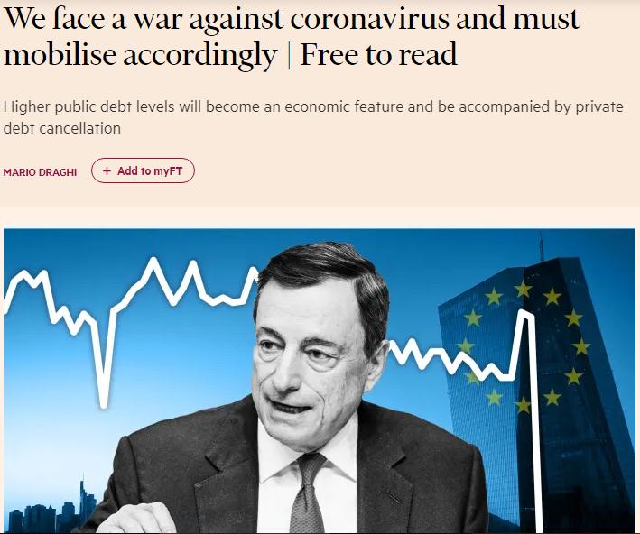 Draghi giornale foto migliore